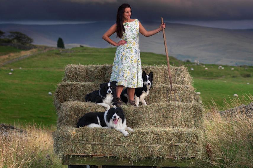 Alison On'Neill the barefoot shepherdess on her farm